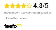 feefo reviews 4.3